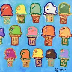 Ice Cream, Painting, Acrylic on Canvas