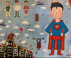 It's not a Bird, It's not a Plane, Painting, Acrylic on Canvas