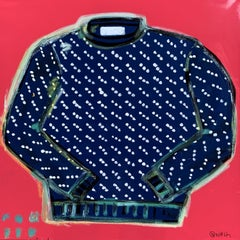 LL Bean Birds-Eye Sweater, Painting, Oil on Canvas