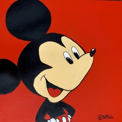 Mickey Mouse, Painting, Oil on Canvas