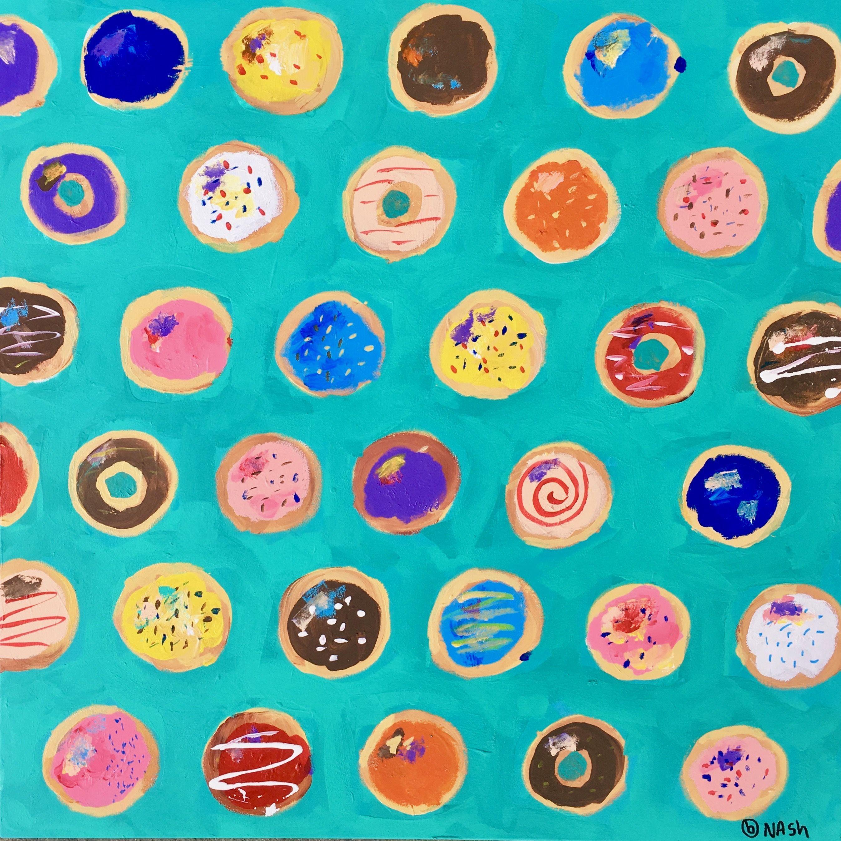 MMMMMM.   Donuts., Painting, Acrylic on Canvas