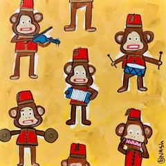 Monkey Band, Painting, Acrylic on Canvas