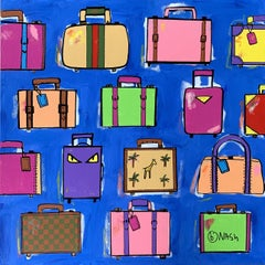 My bags are packed., Painting, Acrylic on Canvas