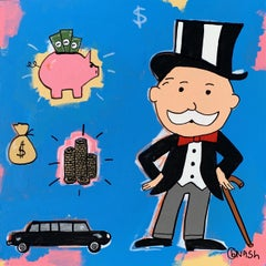 Rich Uncle Pennybags, Painting, Acrylic on Canvas