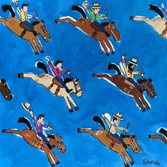Ride 'em Cowboy!, Painting, Acrylic on Canvas