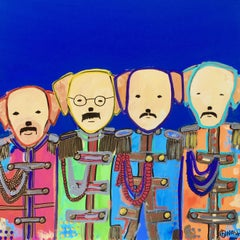 Sgt. Pepper's Dogs, Painting, Acrylic on Canvas