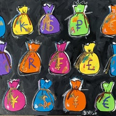 Show me the money!, Painting, Acrylic on Canvas