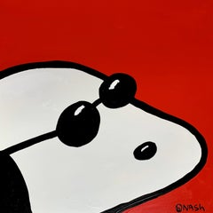 Snoopy is Ready for his Close-up, Painting, Oil on Canvas