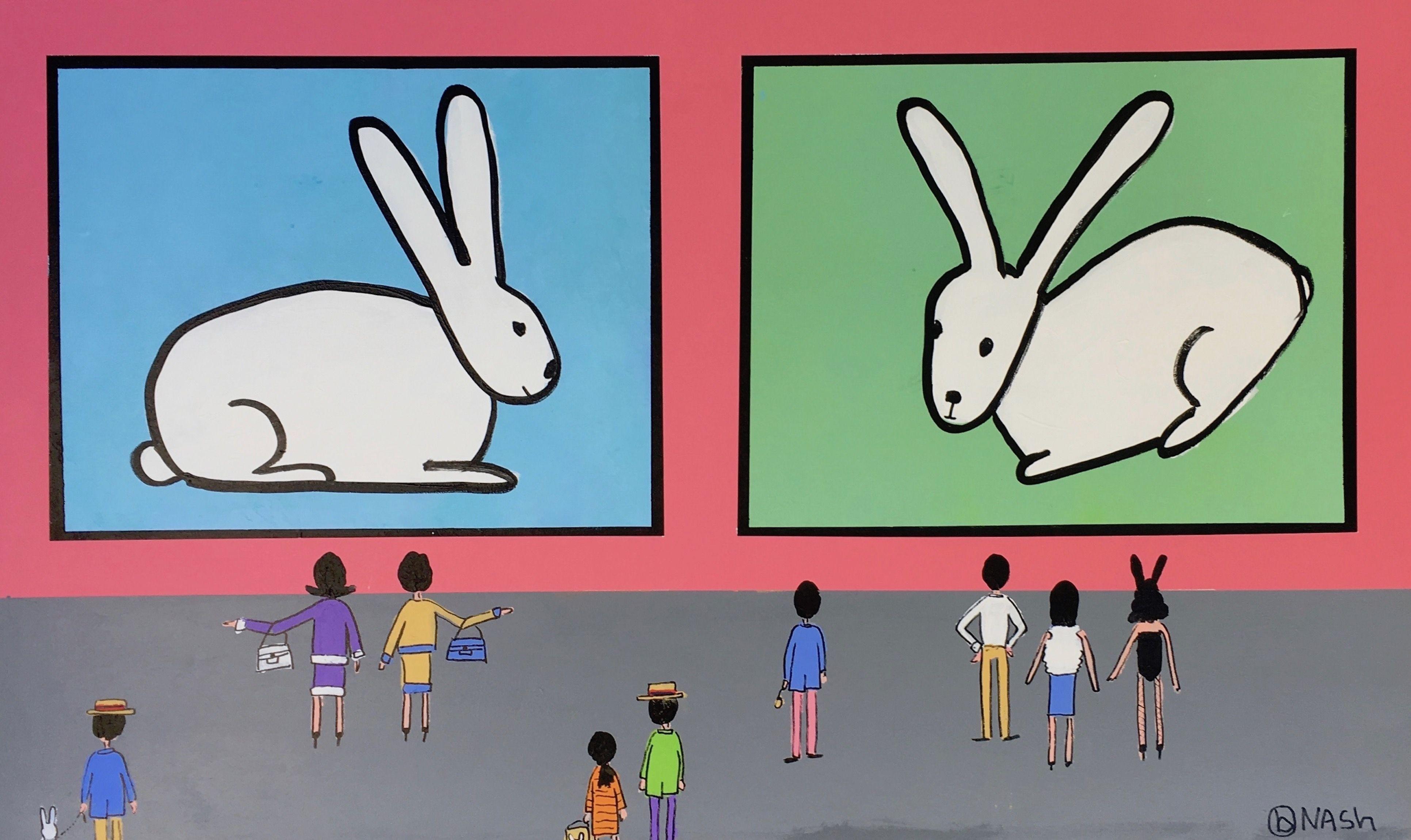 The Bunny Room, Painting, Acrylic on Canvas