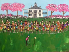 The winning putt, Painting, Acrylic on Canvas