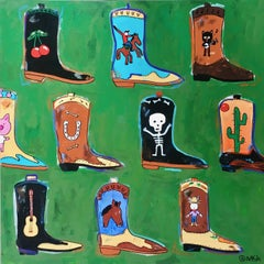 These Boots Were Made for Walking, Painting, Acrylic on Canvas