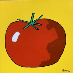 Tomato, Painting, Oil on Canvas