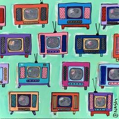 TVs!, Painting, Acrylic on Canvas