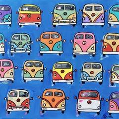 Volkswagen Vans, Painting, Acrylic on Canvas