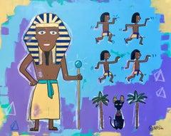 Walk Like an Egyptian, Painting, Acrylic on Canvas