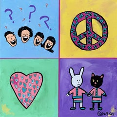 WhatΓÇÖs so funny about peace, love, and understandi, Painting, Acrylic on