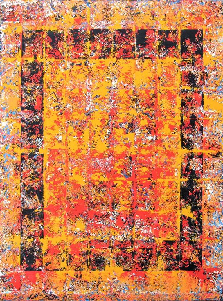 Brian Neish Abstract Painting - Oil on Canvas: 'Defiance'