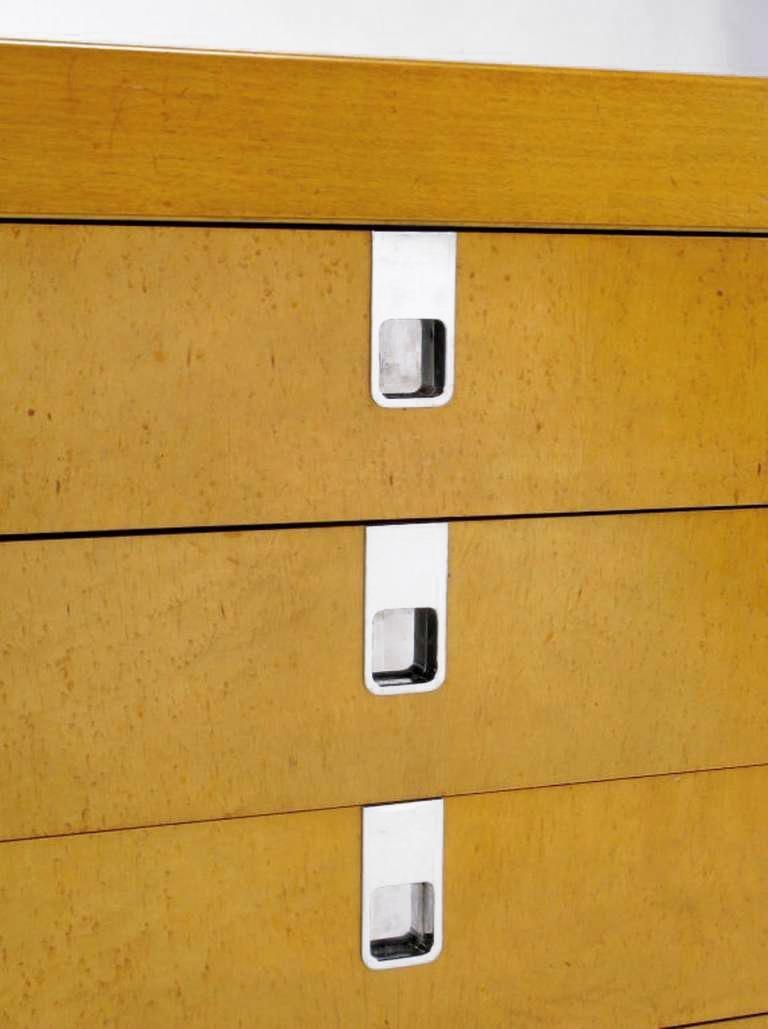 Brian Palmer for Baker Birdseye Maple Modular Three-Piece Cabinet For Sale 1