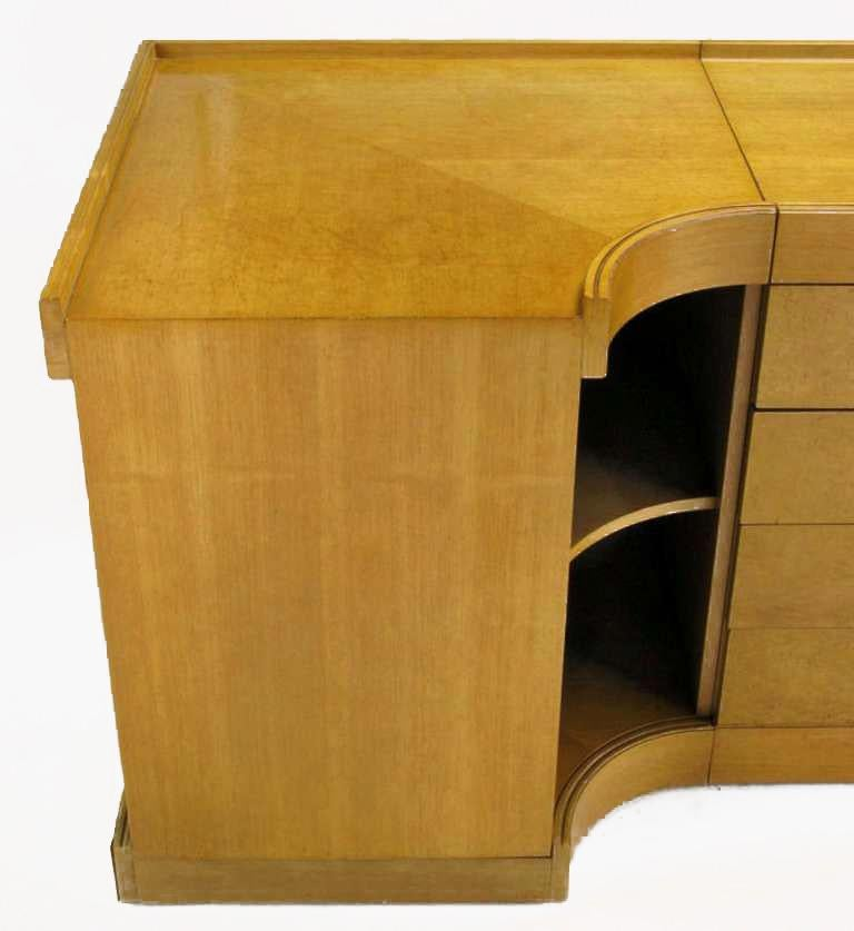 Brian Palmer for Baker Birdseye Maple Modular Three-Piece Cabinet For Sale 2