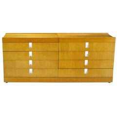Brian Palmer for Baker Birdseye Maple Modular Three-Piece Cabinet