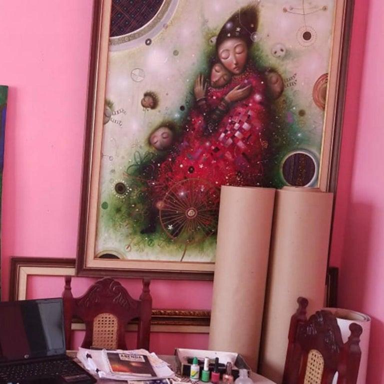 Affected Memory ,Oil,Mixed Media, Hyperrealism Style of Modern Cuban Art,Havana For Sale 1