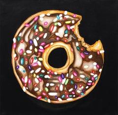 Festive Glaze - Acrylic Donut Painting