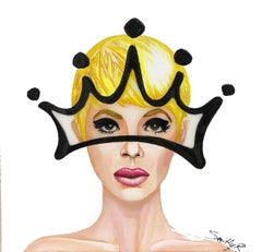 Glory - Contemporary Crown Portrait Painting