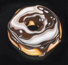 Lavish Glaze - Chocolate Donut Original Acrylic Painting