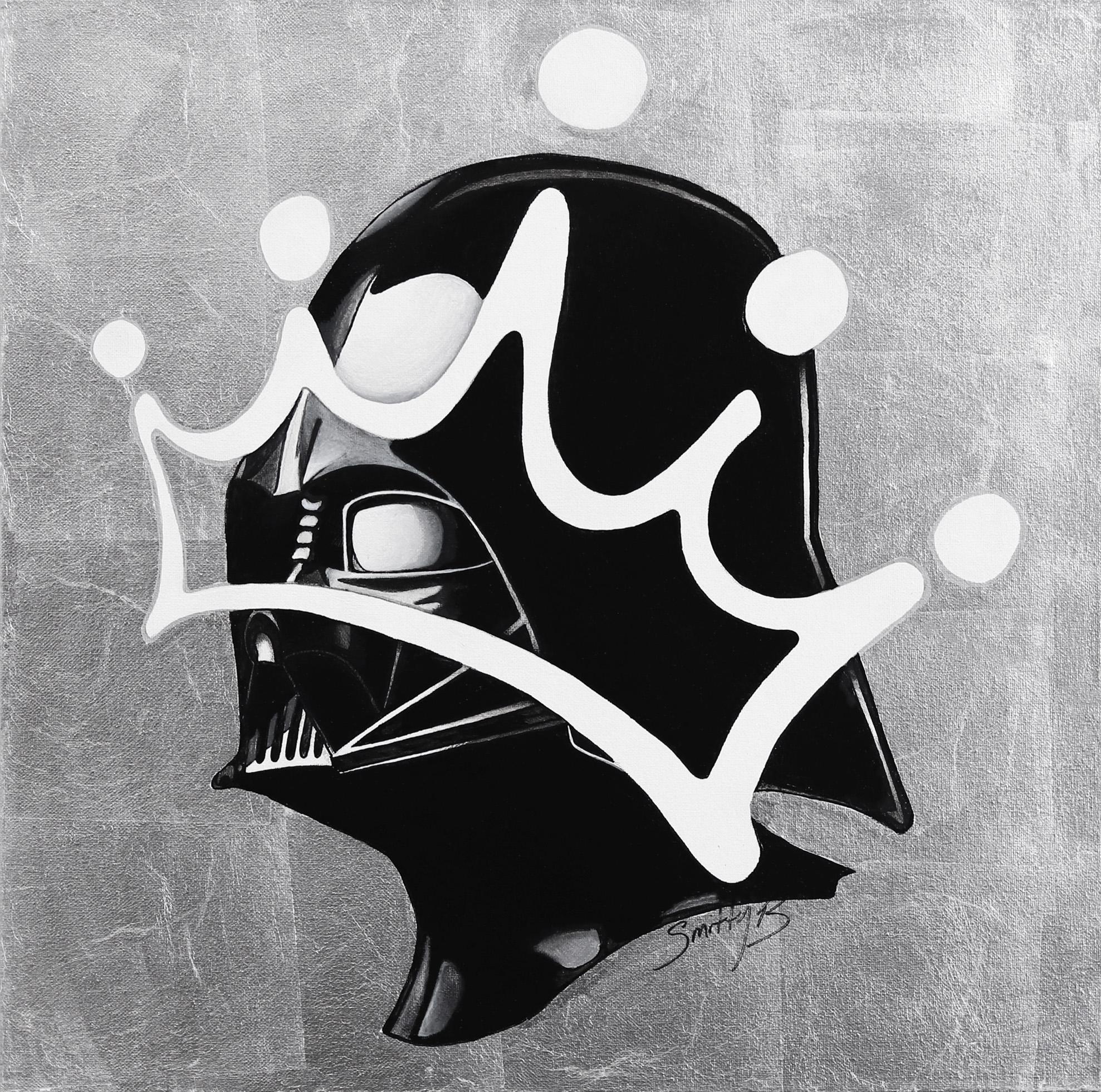 Liege - Star Wars Darth Vader Silver Leaf Original Painting