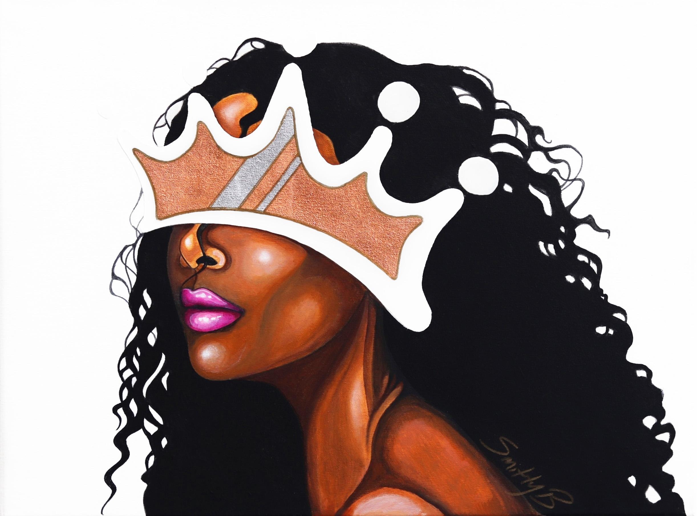 Monarch - Contemporary Crown Portrait Painting
