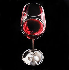 Red Wine Glass -  Original Painting