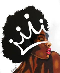 Supreme - Contemporary Crown Female Portrait Painting