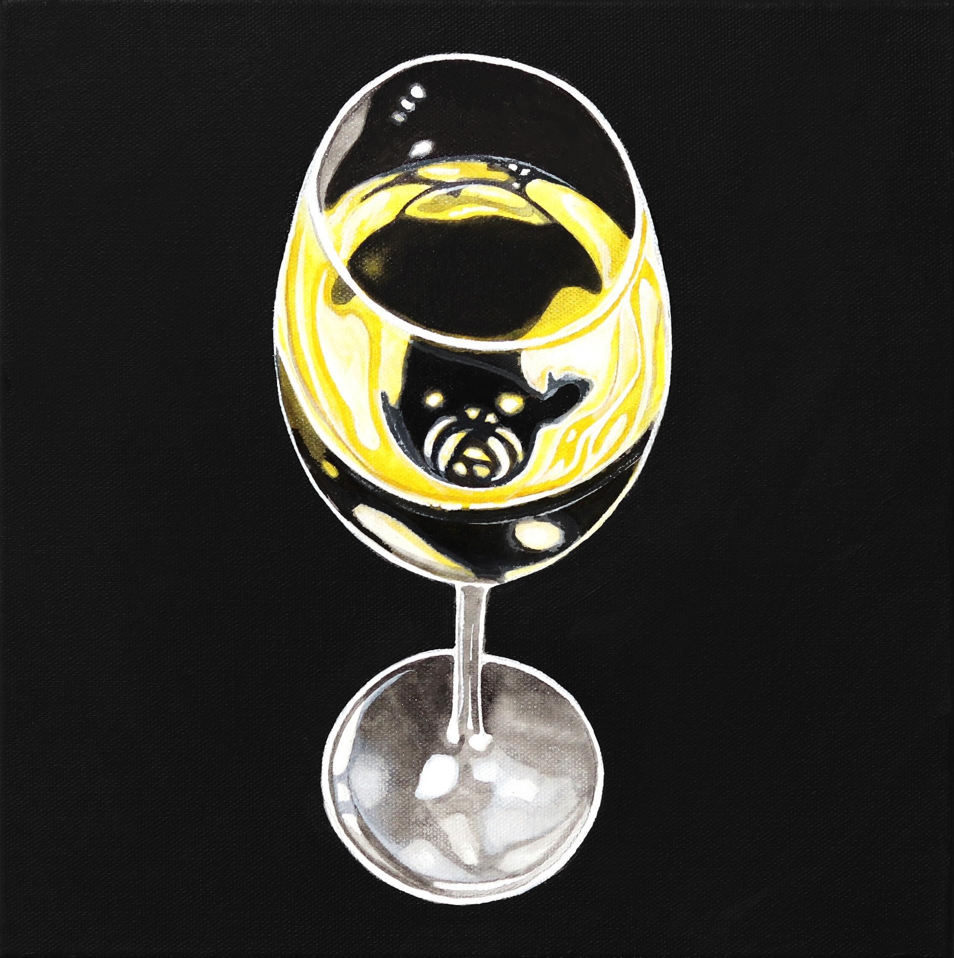 White Wine Glass -  Original Painting