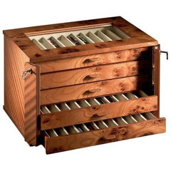 Briar Chest for 55 Pens in Mahogany by Agresti
