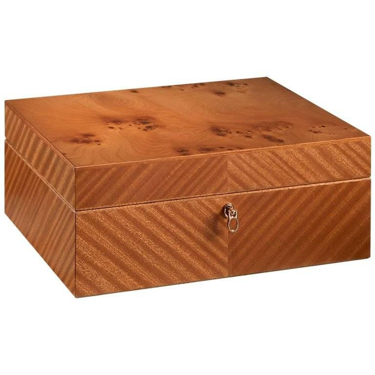 Briar Men's Jewelry Box with Ultrasuede Lining by Agresti For Sale