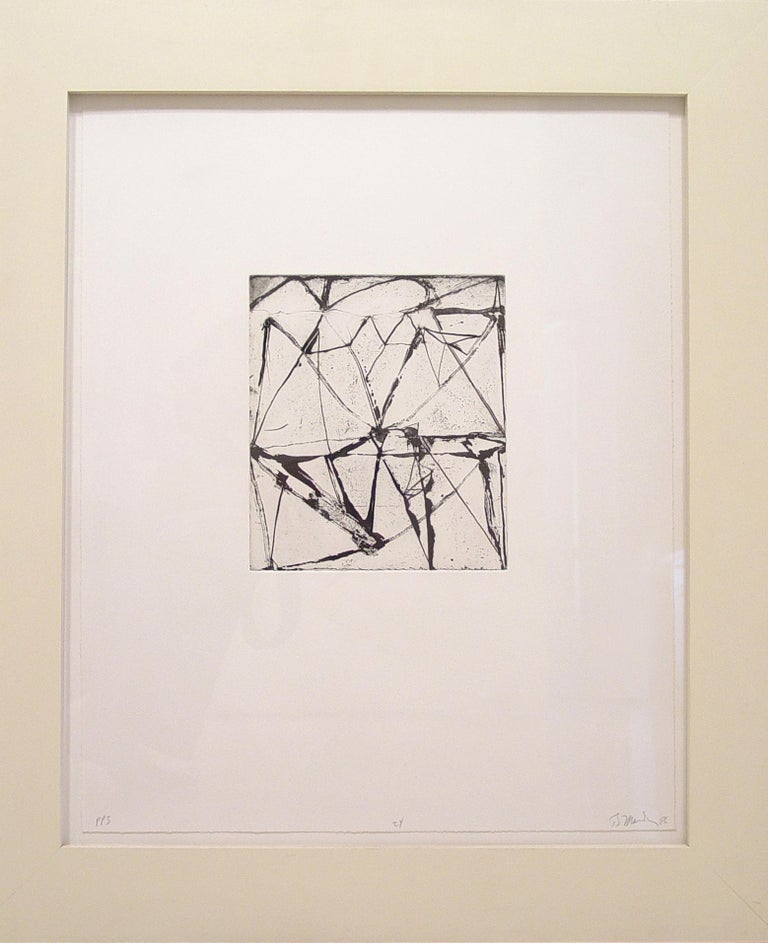 Brice Marden, Etchings to Rexroth #24, 1986, etching and sugarlift aquatint - Abstract Print by Brice Marden