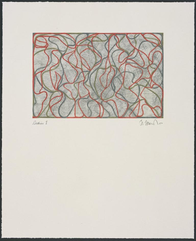 Brice Marden Abstract Print - Distant Muses