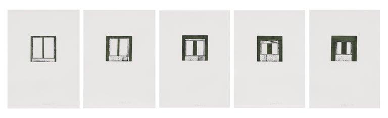 Brice Marden Abstract Print - Focus I-V