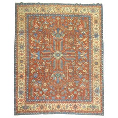 Brick Field Early 20th Century Oriental Persian Heriz Rug