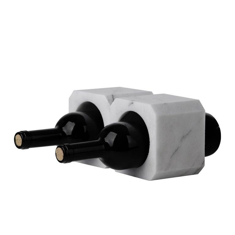 Minimalist Brick Wine Stand by Buket Hoscan Bazman for Marbleous For Sale