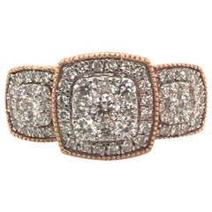 Bridal Diamond Ring with 14 Karat Rose Gold