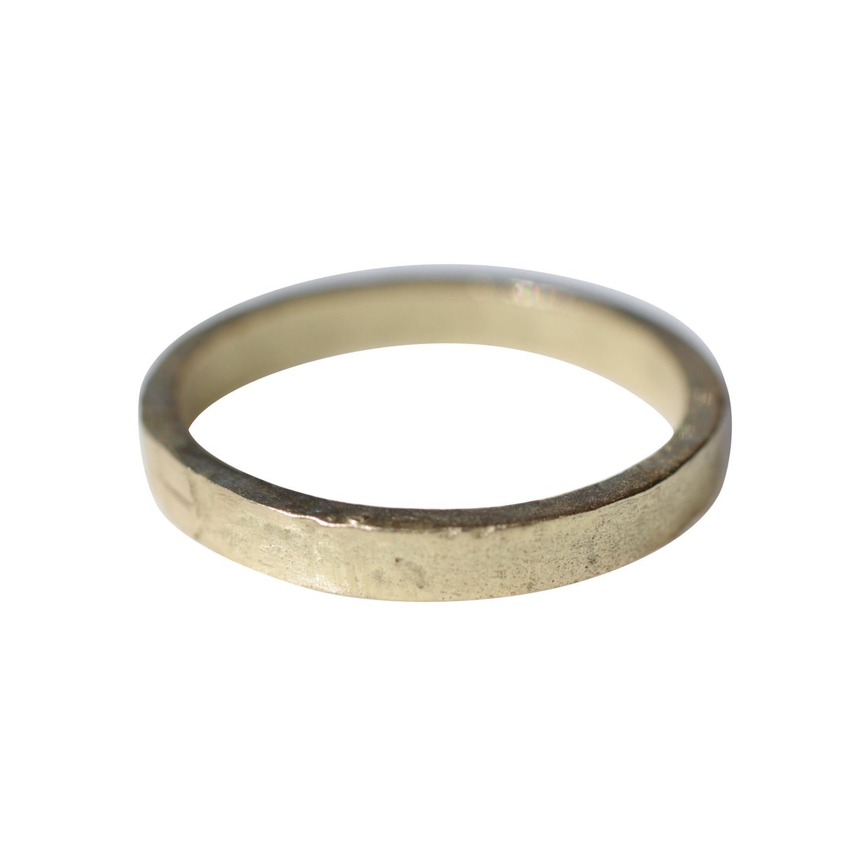 Bridal Wedding 18 Karat Gold Band Ring Stacking Contemporary Unisex Man