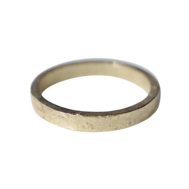 Bridal Wedding 18 Karat Gold Band Ring Stacking Contemporary Unisex Man  For Sale
