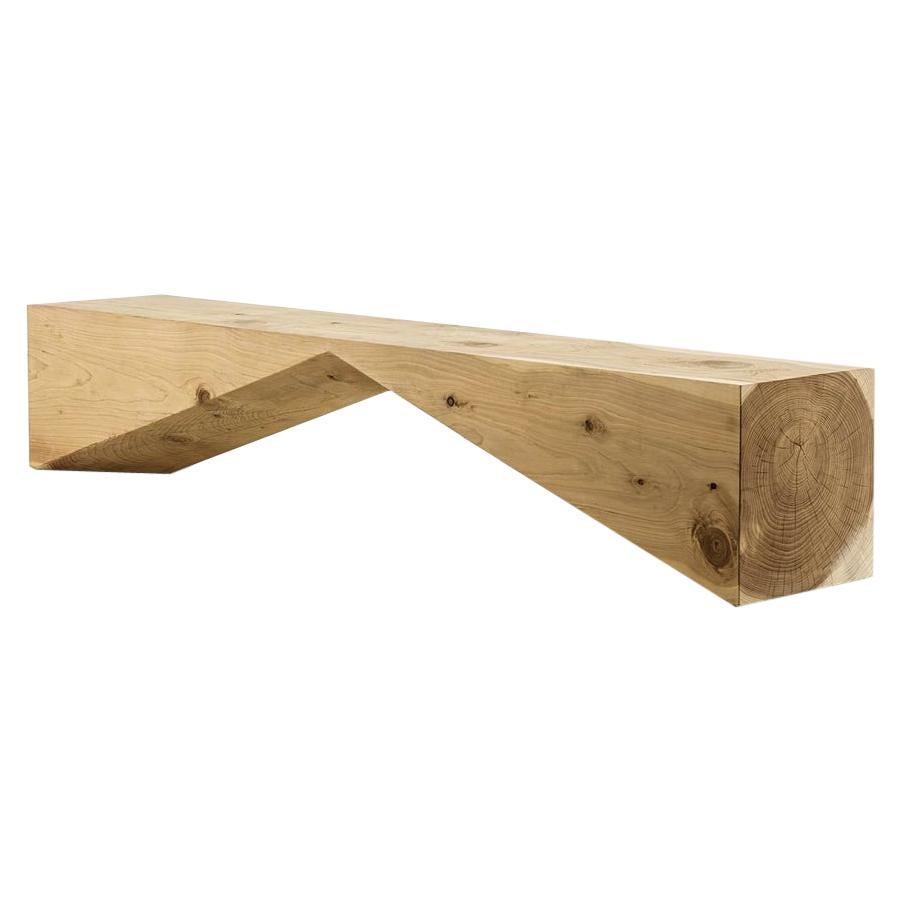 Bridge, Cedar Bench, Designed by C.R.& S., Made in Italy