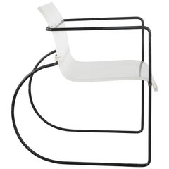 Bridge Chair in Plexiglass and Metal, French Design, circa 1960