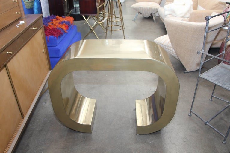 American Bridges over Time Originals Brass Coated Console For Sale