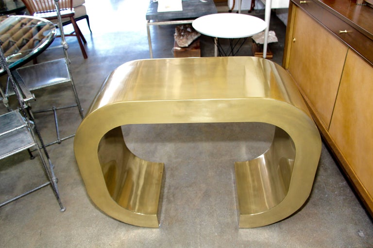 Contemporary Bridges over Time Originals Brass Coated Console For Sale