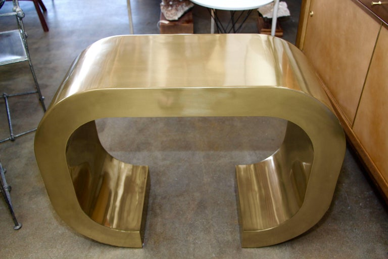 Bridges over Time Originals Brass Coated Console For Sale 1