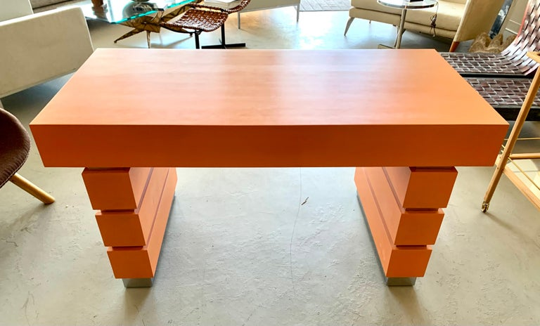 Bridges over Time Originals Custom Orange Desk For Sale 3