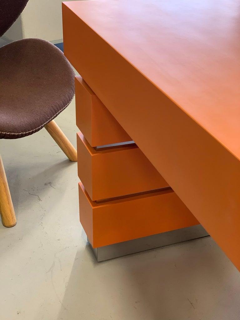 Bridges over Time Originals Custom Orange Desk For Sale 5